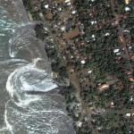 DigitalGlobe tsunami impact satellite imagery