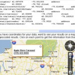 GISuser TIP – Free Batch geocoding from simple text output using Yahoo! maps