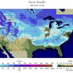 Map – Snow Shown in every State Except Florida Covers 69% of USA