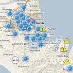 Esri Social Media Response Map, Christchurch New Zealand Earthquake