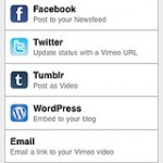 Vimeo video streaming and social sharing on iPhone