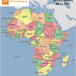 Political, administrative and postcode borders in Africa, 2011
