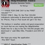 Stay Safe – imapWeather radio for iPhone – free today