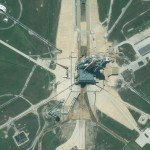 Space Shuttle Endeavour Captured by GeoEye-1 Satellite Sensor on Launch Pad 39A