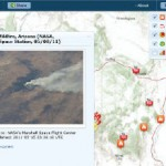 Latest Esri Social News Map shows wildfires including Arizona Wallow Fire