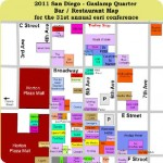 2011 San Diego Gaslamp Restaurant and Bar Map – perfect for #esriuc Conference week