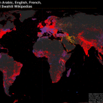 Map of Geotagged Articles and the Languages of Wikipedia