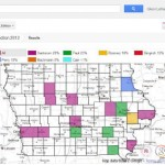 Google Maps US Election Results, Starting in Iowa