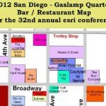 San Diego Gaslamp Map – Print it or grab it as a PDF Map for iOS while at ESRIUC