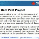 A Look at the Government of Canada Open data Pilot Project #OpenGov
