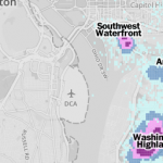 Mapping gunshots Around Washington D.C