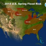 NOAA predicts moderate flood potential in Midwest, elevated risk of ice jams
