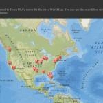 World Cup Team USA Roster Map – #GoUSA