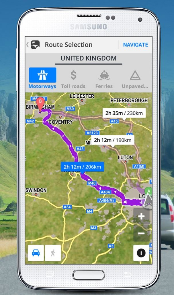Redesigned Sygic GPS Navigatio