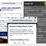 Collin County Texas Reports Success with Election Polling Place Application