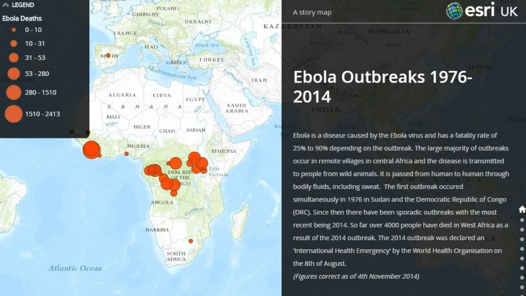 Ebola outbreaks story map