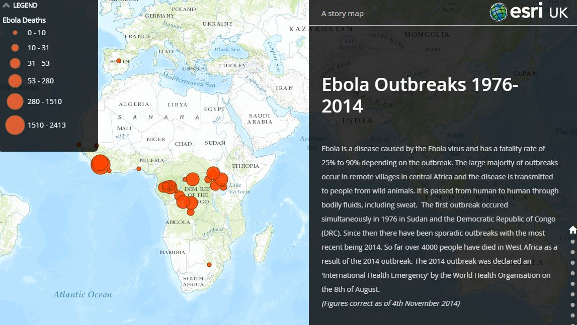 Ebola outbreaks interactive map released - GISuser