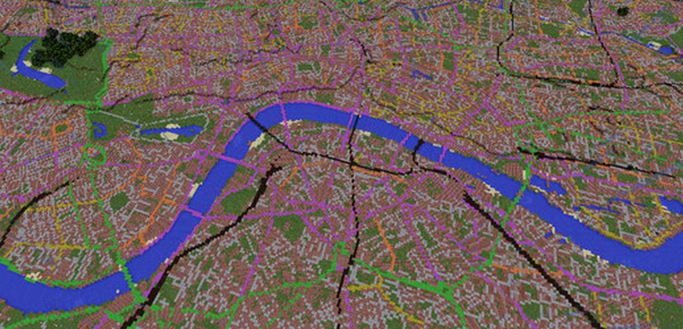 Ordnance Survey Has Created A Map Of Great Britain Using Minecraft