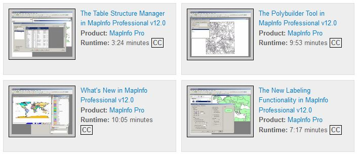 mapinfo pro video learning