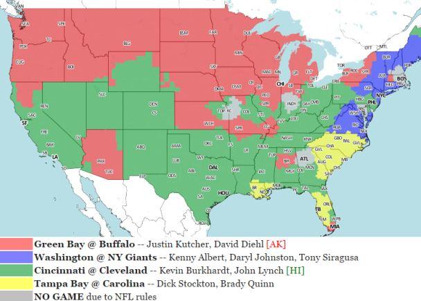 NFL Week 15 Viewing Maps