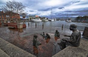 Annapolis, Maryland, pictured here in 2012, is one of three major East Coast urban areas already being faced with nuisance flooding in excess of 30 days per year. (Credit: With permission from Amy McGovern.)