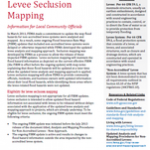 Now Available! Levee Seclusion Mapping Fact Sheet from FEMA