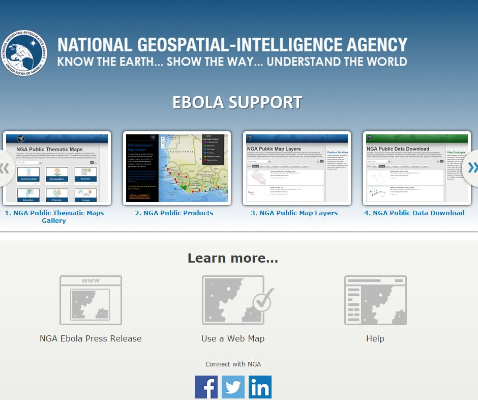 NGA, DigitalGlobe Human Geography Data and Satellite Imagery Aid International Ebola Response