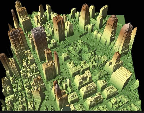 LiDAR scene of Ground Zero (Credit: NOAA)