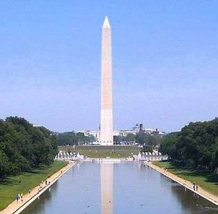 Washington Monument is 10 inches shorter