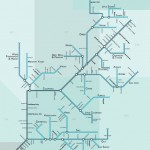 River maps - Subway Map Style