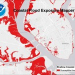 NOAA flood exposure mapper covers the coast from Texas to Maine