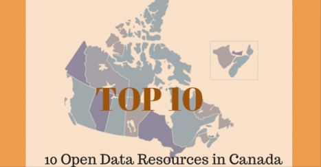 Open Data Infographic - 10 Open Data Resources in Canada
