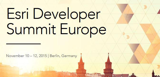 Esri Developer Summit Europe