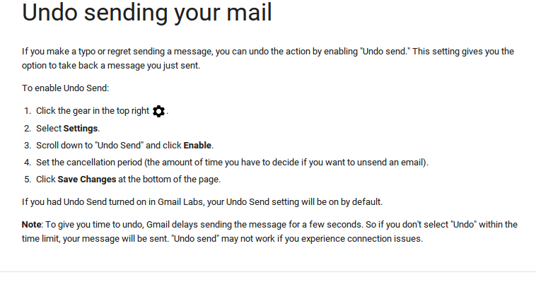 Undo sending your mail   Gmail Help