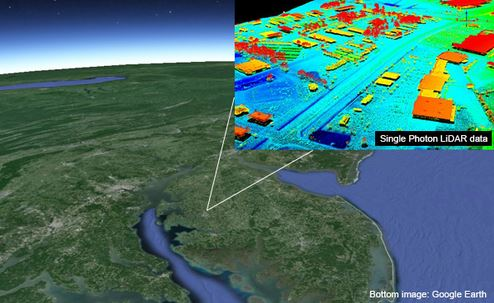 USGS Evaluates Sigma Spaces Single Photon LiDAR As A Key - 3d us map elevation