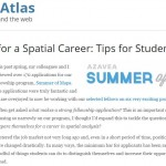 Advice for Students from A Professional on Preparing for a Spatial Career