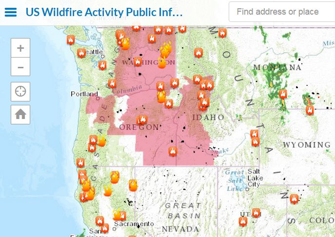 Wildfires Across The Western US With Interactive Esri Maps - Map of the western us