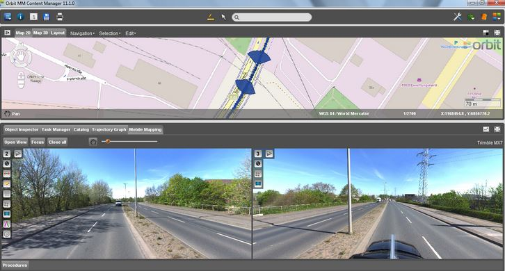 Orbit GT supports Trimble MX7 Mobile Mapping System