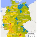 Map of OTC purchasing power, Germany