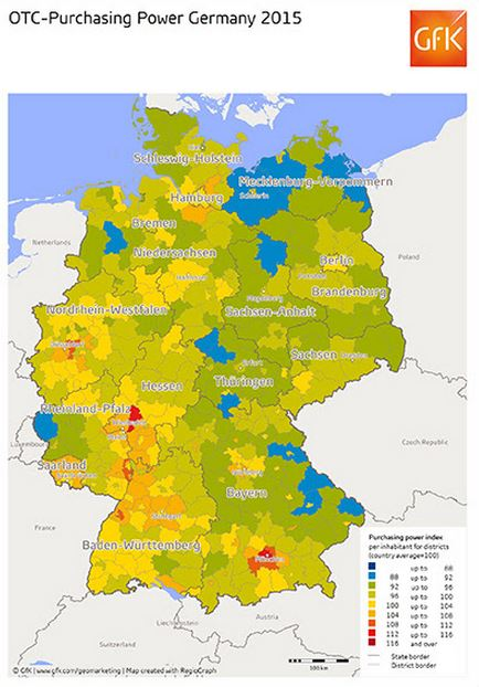Strategic Noise Mapping For The German Federal Railway Authority - Germany map 2015