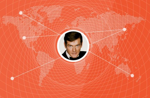 Roger Moore Recognised as The Most Traveled Bond