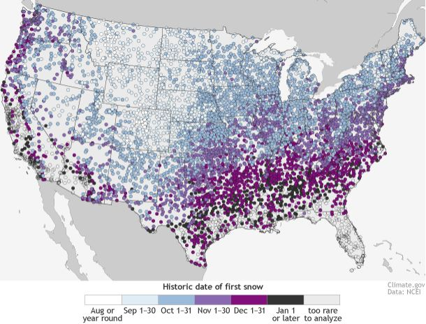 Mapping the First Day of Snow