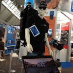 The Microsoft backpack system, on display at InterGEO, incorporates Velodyne's VLP-16 LiDAR Puck