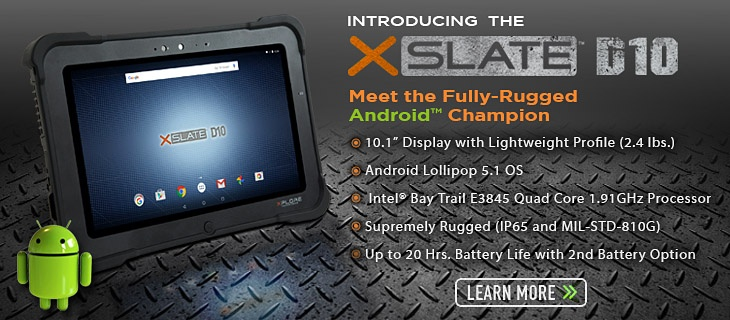 Xplore Unveils XSLATETM D10 Fully Rugged Tablet
