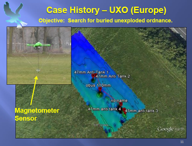 Picture 2: Drone used to locate UXOs in Europe.