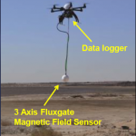 Picture 1: Multi-rotor drone equipped with magnetometer