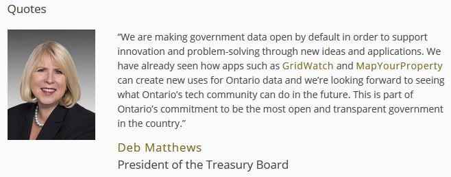 Ontario Making Data Open by Default