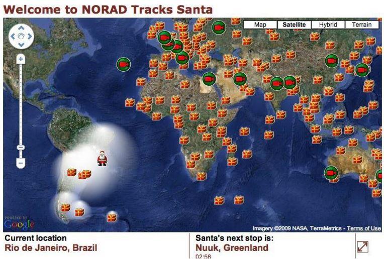 Santa Tracking Us