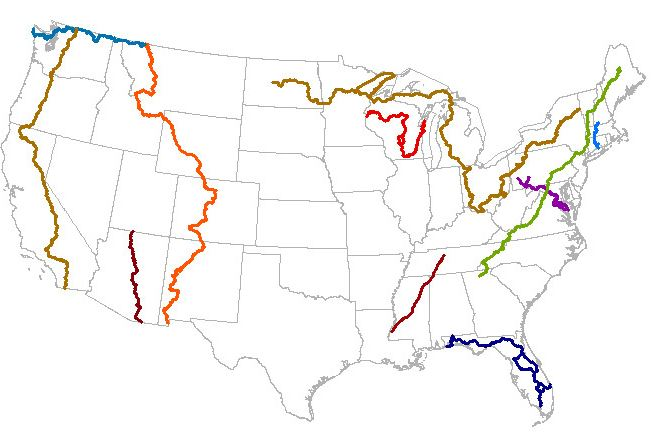 Map of the Day - National Scenic Trail data