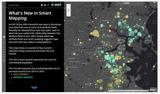 ArcGIS Online Updates Include Smart Mapping and More